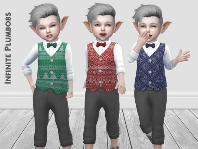 IP Toddler Christmas Waistcoat by InfinitePlumbobs