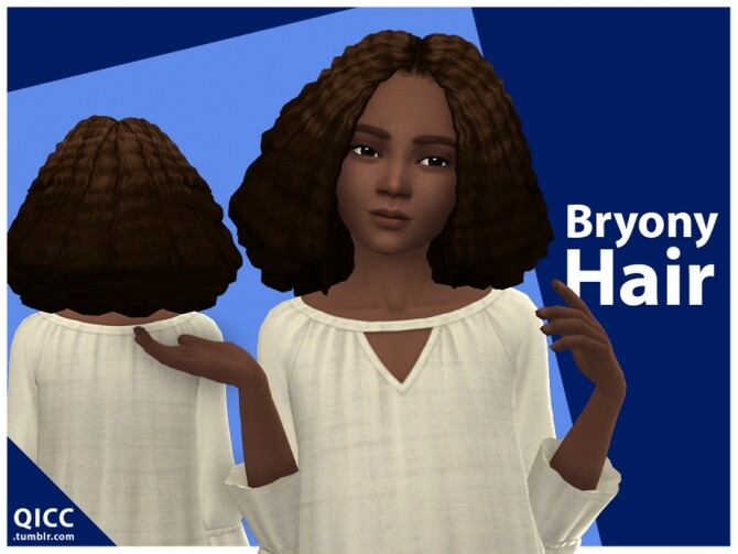 Sims 4 Bryony Hair for kids by qicc at TSR