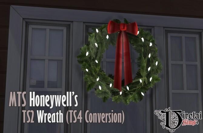 Sims 4 Honeywell's wreath TS2 to TS4 conversion at Virelai
