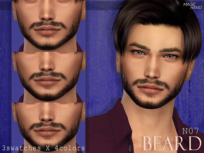 Sims 4 Beard N07 by MagicHand at TSR