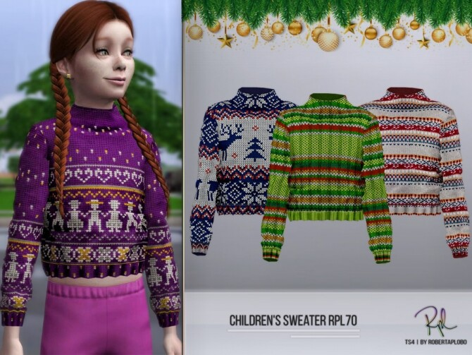 Sims 4 Childrens Sweater RPL70 by RobertaPLobo at TSR