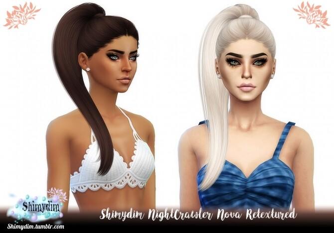 Sims 4 NightCrawler Nova Hair Retexture at Shimydim Sims