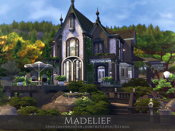 Sims 4 Madelief house by Rirann at TSR