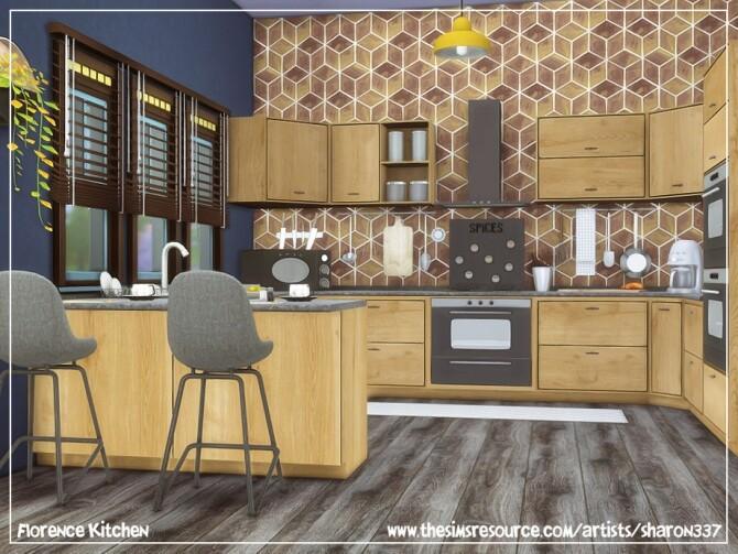 Sims 4 Florence Kitchen by sharon337 at TSR