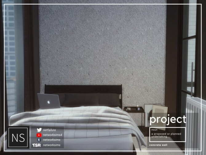 Sims 4 Project Concrete Walls by Networksims at TSR