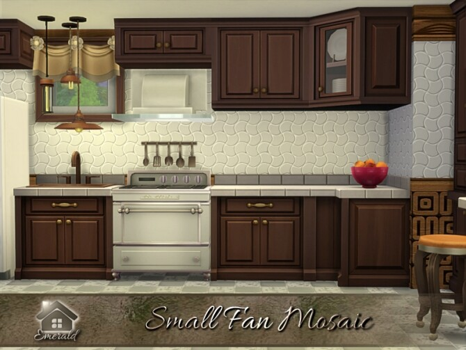 Sims 4 Small Fan Mosaic by emerald at TSR