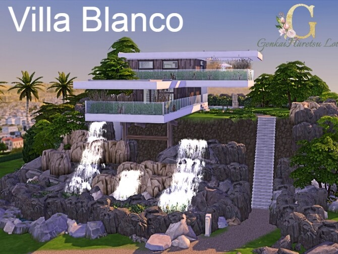 Sims 4 Villa Blanco by GenkaiHaretsu at TSR