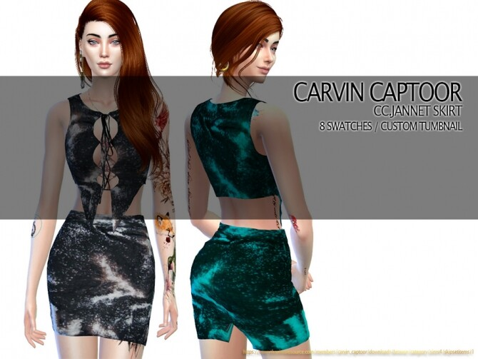 Sims 4 Jannet Skirt by carvin captoor at TSR