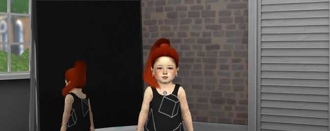 Sims 4 THYNA HAIR + KIDS AND TODDLER VERSION at REDHEADSIMS