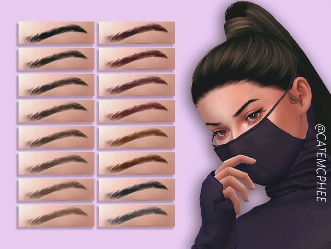 Sims 4 EB 10 Maggie Brows by catemcphee at TSR