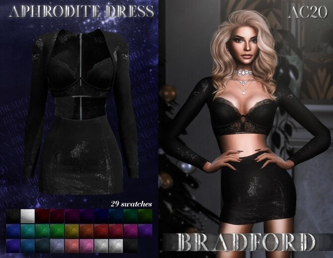 Sims 4 Aphrodite Dress at MURPHY