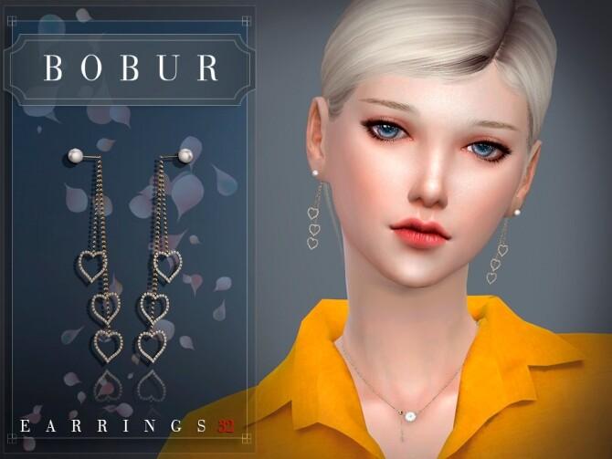 Sims 4 Earrings 32 by Bobur3 at TSR