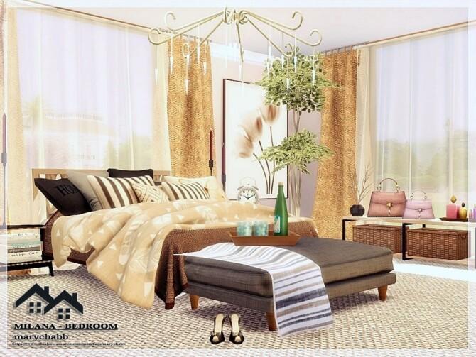 Sims 4 Milana Bedroom by marychabb at TSR