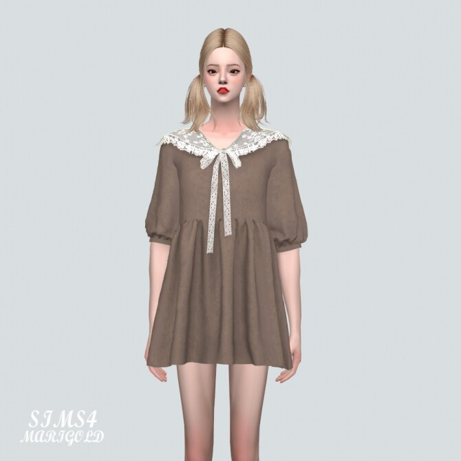 Lace Ribbon Mini Dress PP 2 at Marigold image 118 670x670 Sims 4 Updates