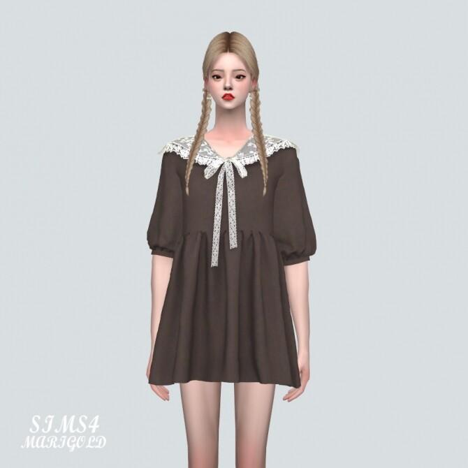 Lace Ribbon Mini Dress PP 2 at Marigold image 119 670x670 Sims 4 Updates