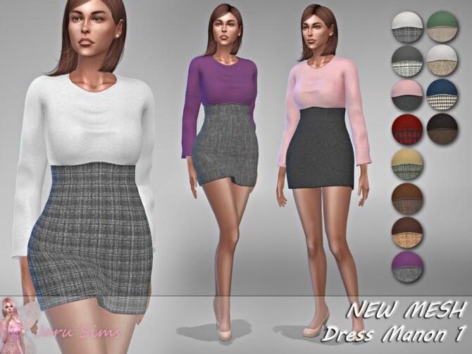 Sims 4 Dress Manon 1 by Jaru Sims at TSR