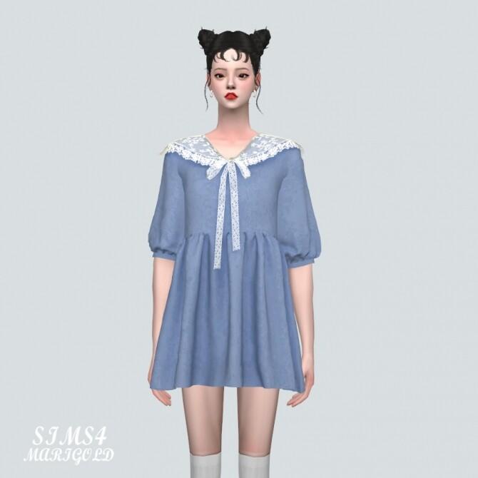 Lace Ribbon Mini Dress PP 2 at Marigold image 120 670x670 Sims 4 Updates