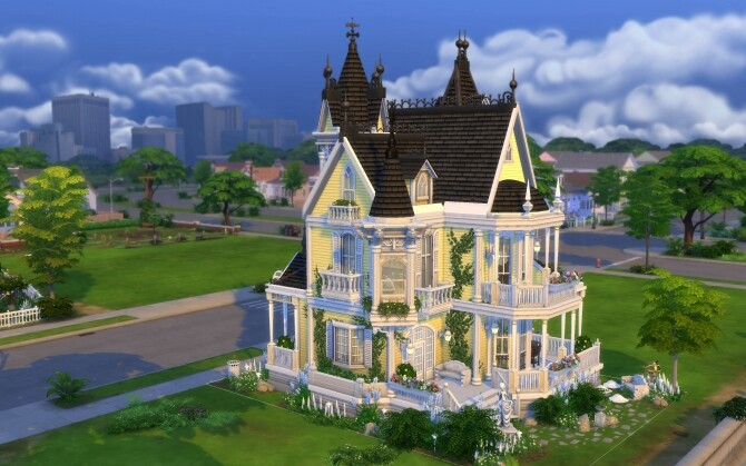 The Little Yellow Victorian House by alexiasi