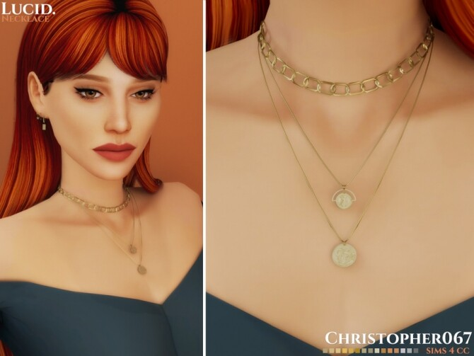 Sims 4 Lucid Necklace by Christopher067 at TSR