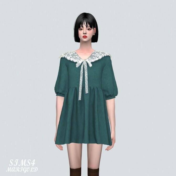 Lace Ribbon Mini Dress PP 2 at Marigold image 121 670x670 Sims 4 Updates