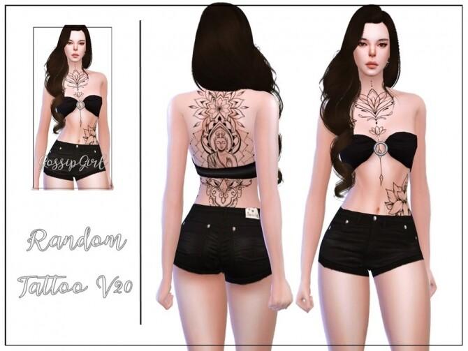 Sims 4 Random Tattoo V20 by GossipGirl S4 at TSR