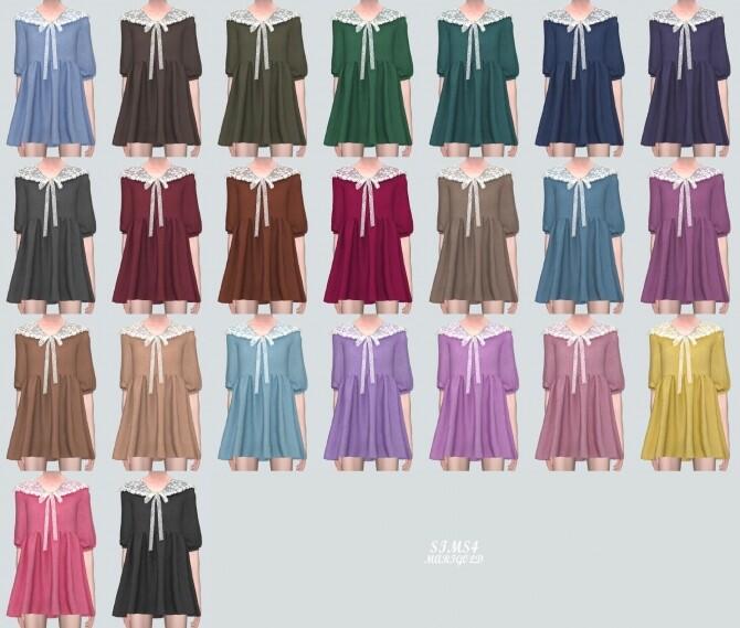 Lace Ribbon Mini Dress PP 2 at Marigold image 122 670x569 Sims 4 Updates
