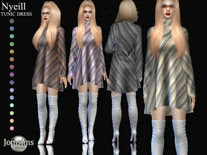 Sims 4 Nyeill tunic dress by  jomsims at TSR