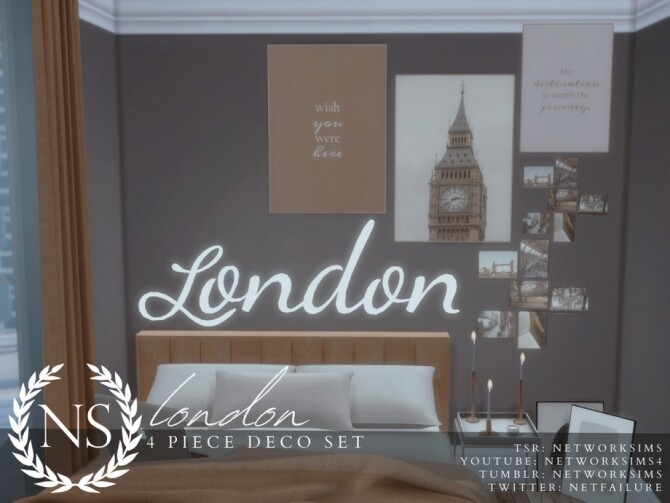 Sims 4 London Deco Set by Networksims at TSR
