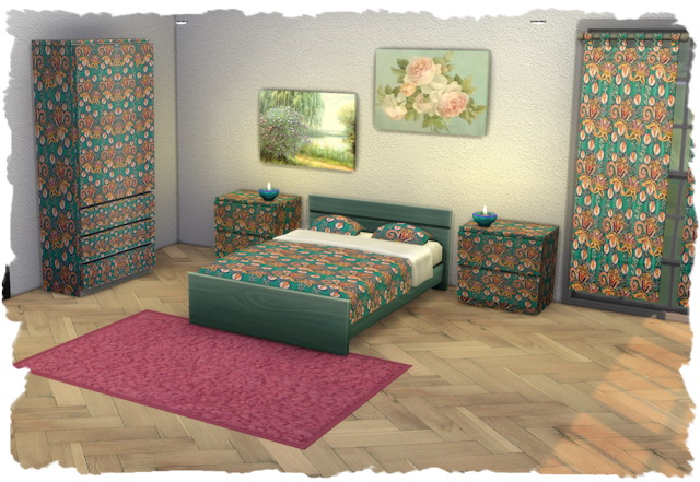 Sims 4 Bedroom base game by Chalipo at All 4 Sims