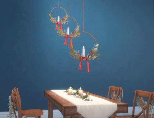 Sims 4 Hanging Candle Wreaths by pocci at Garden Breeze Sims 4