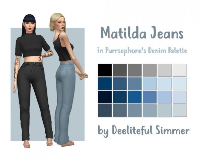 Sims 4 Matilda jeans at Deeliteful Simmer