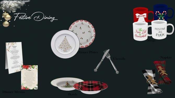 Sims 4 Festive Dining Collection at Sunkissedlilacs