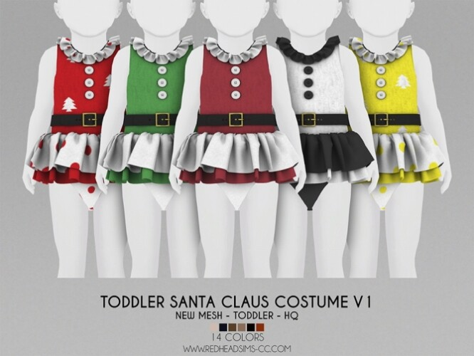 TODDLER SANTA CLAUS COSTUME 2 VERSIONS