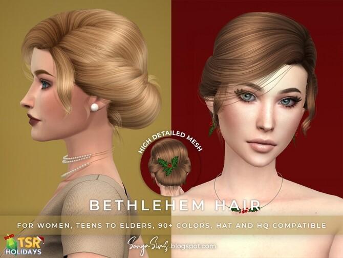 Sims 4 Alice, Supremacy & Bethlehem Hair at Sonya Sims