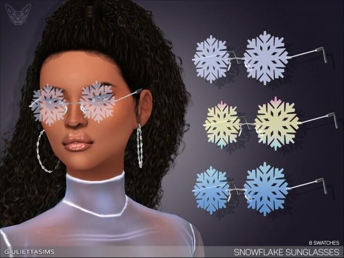 Sims 4 Snowflake Glasses by feyona at TSR
