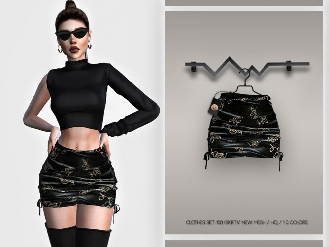 Sims 4 Clothes SET 100 SKIRT BD376 by busra tr at TSR