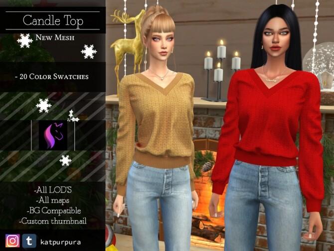 Sims 4 Candle Top by KaTPurpura at TSR