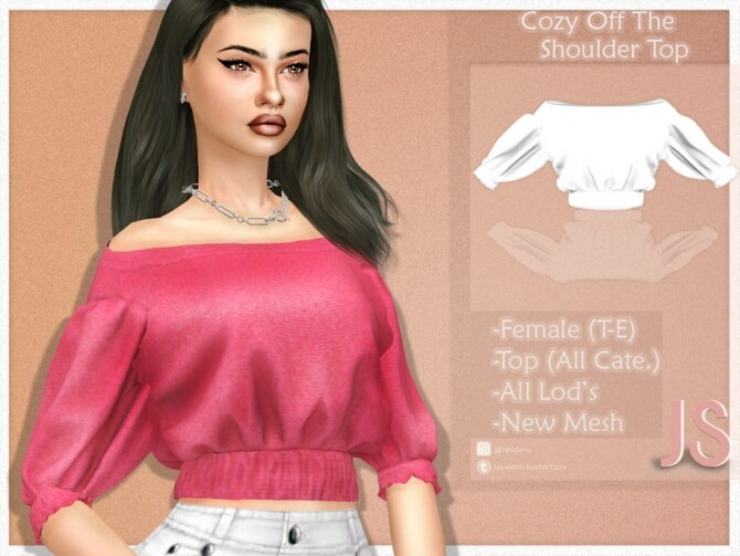 Cozy Off The Shoulder Top by JavaSims