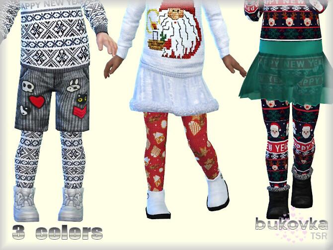 Sims 4 Tights Happy New Year by bukovka at TSR