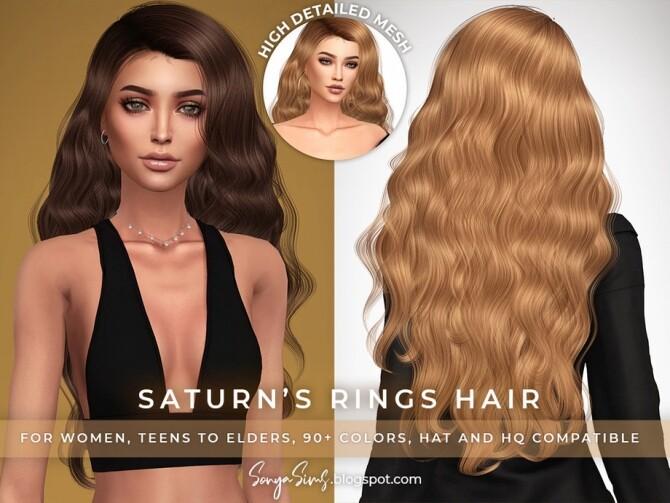 Sims 4 Saturns Rings Hair by SonyaSimsCC at TSR