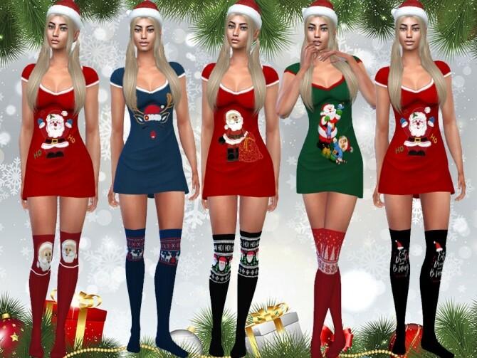 Sims 4 Female Cute Xmas Socks by Saliwa at TSR