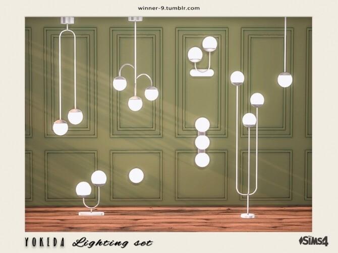 Sims 4 Yokeda lighting set by Winner9 at TSR