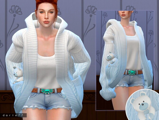 Sims 4 Slouchy Knit Cardigan AF by Darte77 at TSR