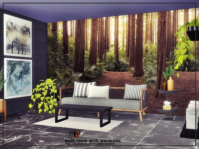 Sims 4 Bath room with wardrobe by Danuta720 at TSR