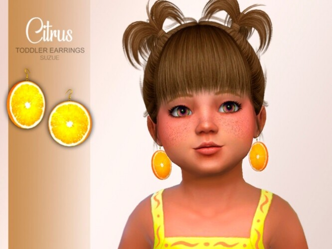 Citrus Toddler Earrings by Suzue