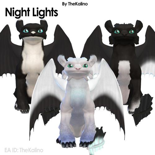 Sims 4 Night Fury and Light Fury (Large Dogs) at Kalino