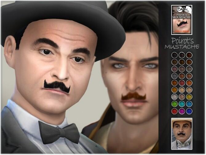 Sims 4 Poirots Mustache by BAkalia at TSR