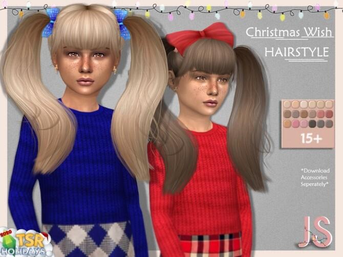 Holiday Wonderland Christmas Wish Hairstyle by JavaSims