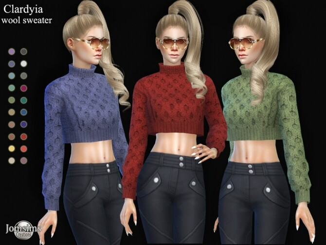 Sims 4 Clardyia wool sweater by  jomsims at TSR
