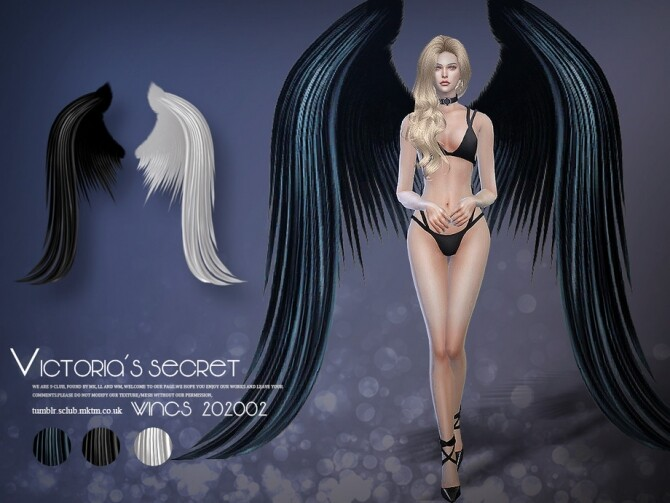 Sims 4 Angel wings 202002 by S Club LL at TSR